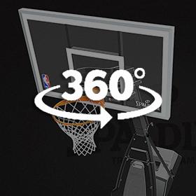 Momentous™ EZ Assembly™ Acrylic Portable Basketball Hoop 3D model